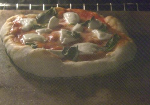 Just in the oven, pizza NY style