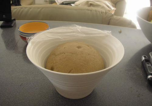 Finished dough at 2 hours' bulk fermentation