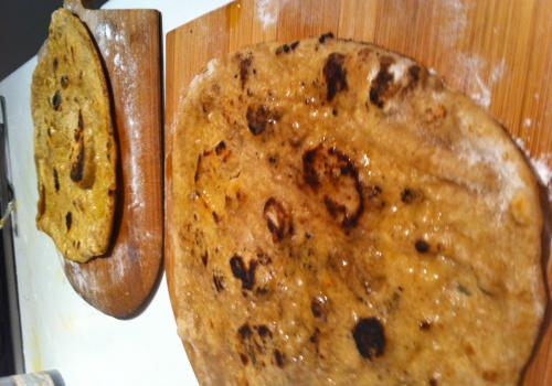 Flat bread, char grilled