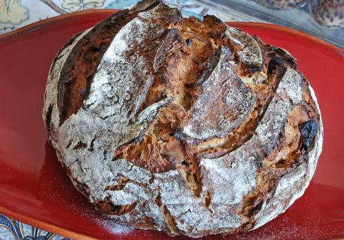 Cherry Tea 36 Hour Sourdough Miche with Cherries