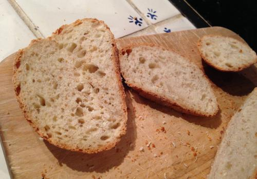 Photo of the original white bread before the variations.
