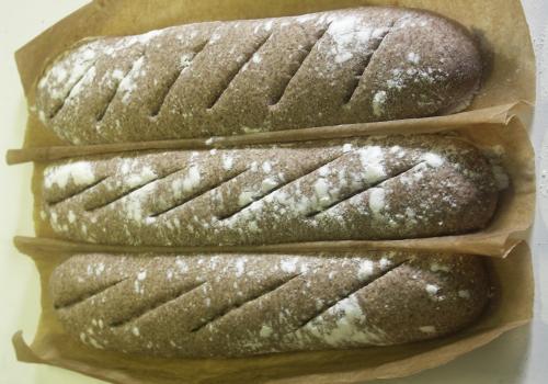 purple long breads