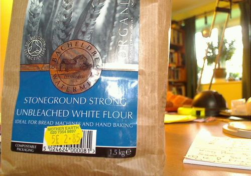My unbleached flour (yippee!)