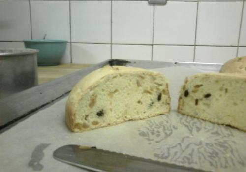 side profile of Panettone