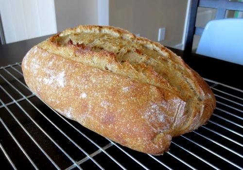 Spelt/wheat bread, with nice grigne