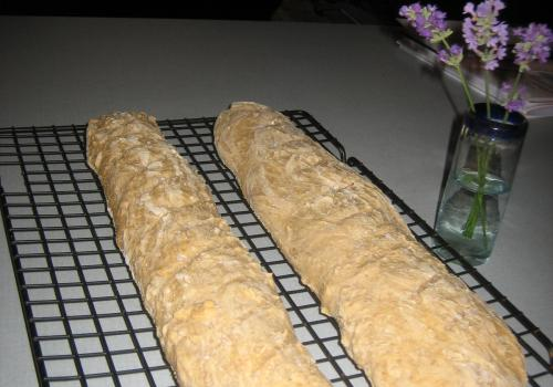 spelt french loaves
